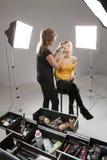 Artista de maquillaje Fotos de archivo