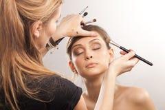 Artista de maquillaje Fotos de archivo libres de regalías