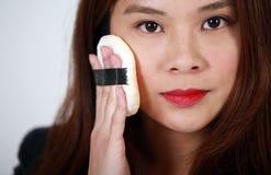 Artista de maquillaje asiático Fotografía de archivo