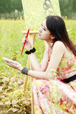 Artista de sexo femenino joven Foto de archivo libre de regalías