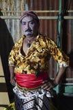 Artista de Tobong adentro en vestido tradicional del Javanese Imagen de archivo libre de regalías