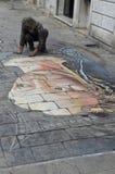 Artista de Venecia Fotografía de archivo libre de regalías