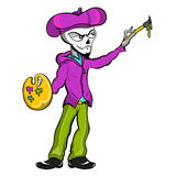 Artista del esqueleto del zombi Foto de archivo libre de regalías