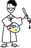 Artista del fumetto con la gamma di colori Fotografia Stock