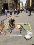 Artista del marciapiede Fotografie Stock Libere da Diritti