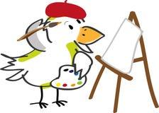 Artista dell'uccello Fotografia Stock Libera da Diritti