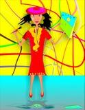 Artista della donna royalty illustrazione gratis