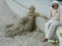 Artista della sabbia Fotografie Stock