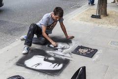 Artista della via a Londra Fotografie Stock Libere da Diritti