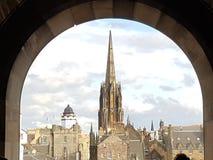 Artista di festa di viaggio del fiabe di castello di Edimburgo del castello Fotografie Stock
