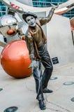 Artista di Illumina Art Sculptures Mime, pagliaccio Fotografie Stock
