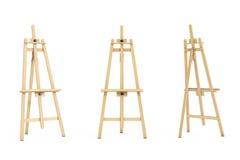 Artista di legno Easel rappresentazione 3d Immagini Stock Libere da Diritti