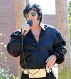 Artista di tributo di Elvis Fotografia Stock Libera da Diritti