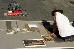 Artista do desempenho da rua, Syd fotos de stock