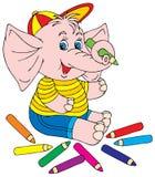 Artista do elefante Fotografia de Stock Royalty Free