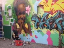 Artista dos grafittis Fotos de Stock Royalty Free