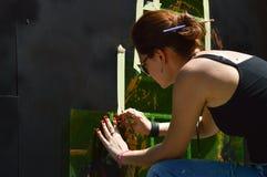 Artista dos grafittis Imagens de Stock