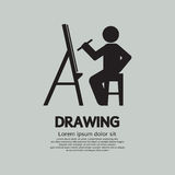 Artista Drawing Picture Symbol Immagine Stock