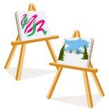 Artista Easels Foto de Stock Royalty Free