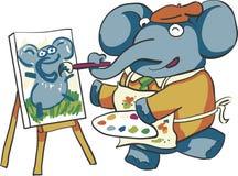 Artista Elephant ilustração do vetor