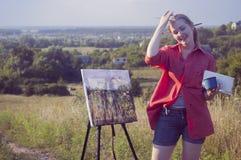 Artista en el aire llano imágenes de archivo libres de regalías