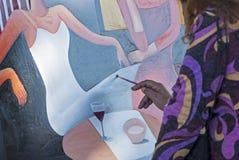 Artista en el trabajo Foto de archivo