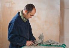 Artista en estudio Imagen de archivo libre de regalías