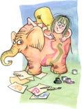 Artista en la ilustración de la acuarela del â del trabajo libre illustration