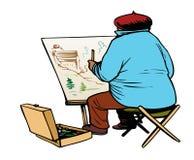 Artista en naturaleza libre illustration