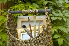 Artista Equipment In Garden imágenes de archivo libres de regalías