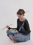 Artista fêmea com paleta Fotos de Stock Royalty Free