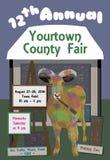Artista Goat en Art Fair Imágenes de archivo libres de regalías