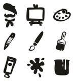 Artista Icons Freehand Fill Imagen de archivo libre de regalías