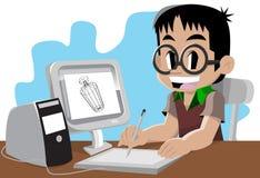 Artista joven libre illustration