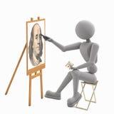 Artista joven de entrenamiento libre illustration
