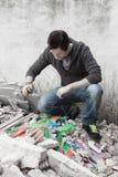Artista joven en la calle Imágenes de archivo libres de regalías