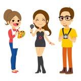 Artista joven People stock de ilustración