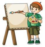 Artista Kid del pintor Foto de archivo