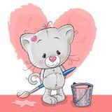 Artista Kitten ilustração stock