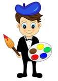 Artista lindo de Little Boy ilustración del vector