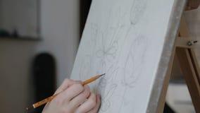 Artista Makes um esboço vídeos de arquivo