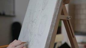 Artista Makes um esboço filme