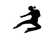 Artista marcial de salto Imágenes de archivo libres de regalías