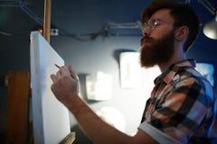 Artista moderno inspirado Drawing Masterpiece en lona imagenes de archivo