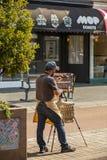 Artista na cidade de West Australian de Fremantle imagens de stock