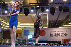 Artista na feira grande de Canon Guangzhou 2014 Fotografia de Stock
