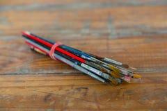 Artista Paint Brush Bundle Imagen de archivo libre de regalías
