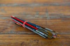 Artista Paint Brush Bundle Fotografía de archivo libre de regalías