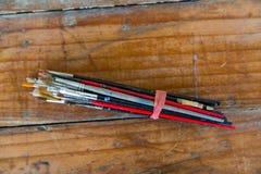 Artista Paint Brush Bundle Fotos de archivo