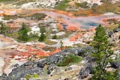 Artista Paint Pots Landscape Yellowstone Imágenes de archivo libres de regalías